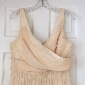 Cream JCrew Bridesmaid Dress